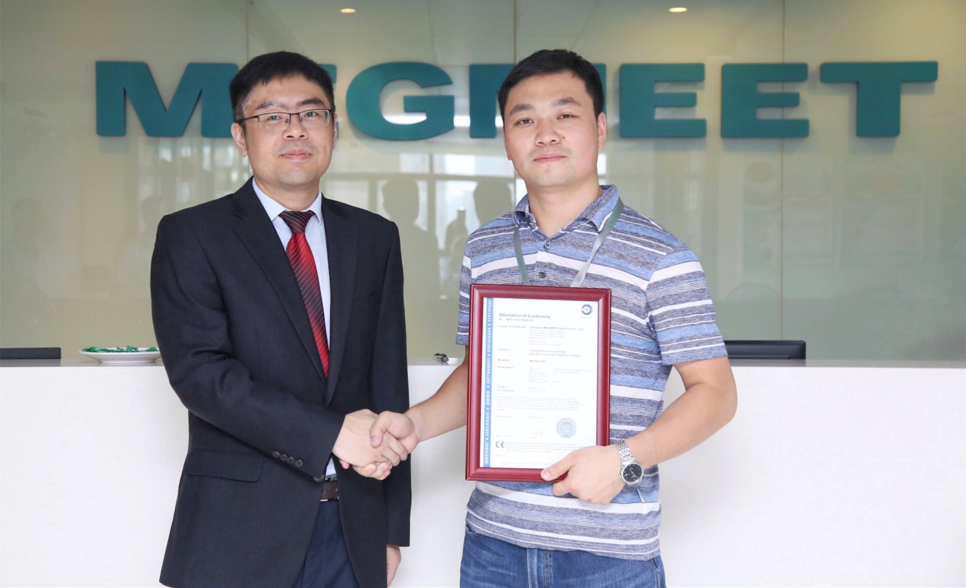 Megmeet Obtains the First 30kw Charging Module CE Certification in the World